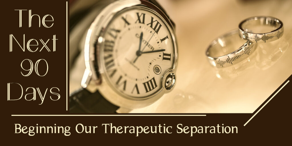 The Next Ninety Days - Beginning Our Therapeutic Separation