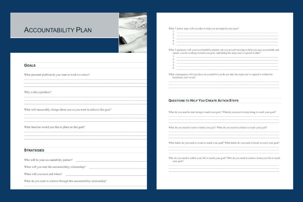 Accountability Plan Worksheet Downloadable PDF