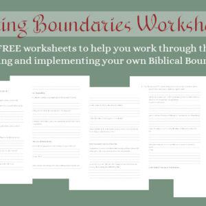 Setting Boundaries worksheet